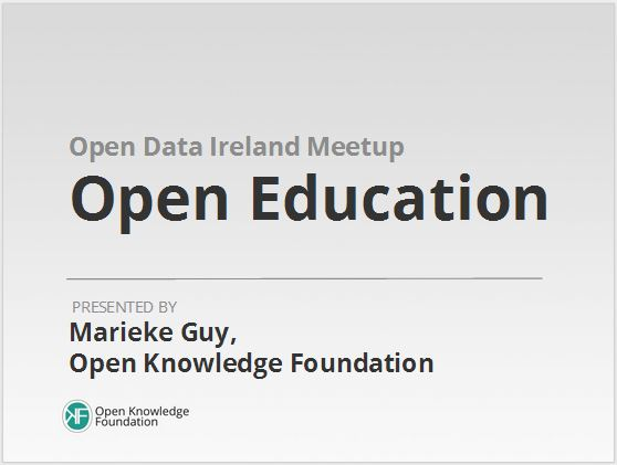 Marieke Guy on Open Education 23 Jan 2014